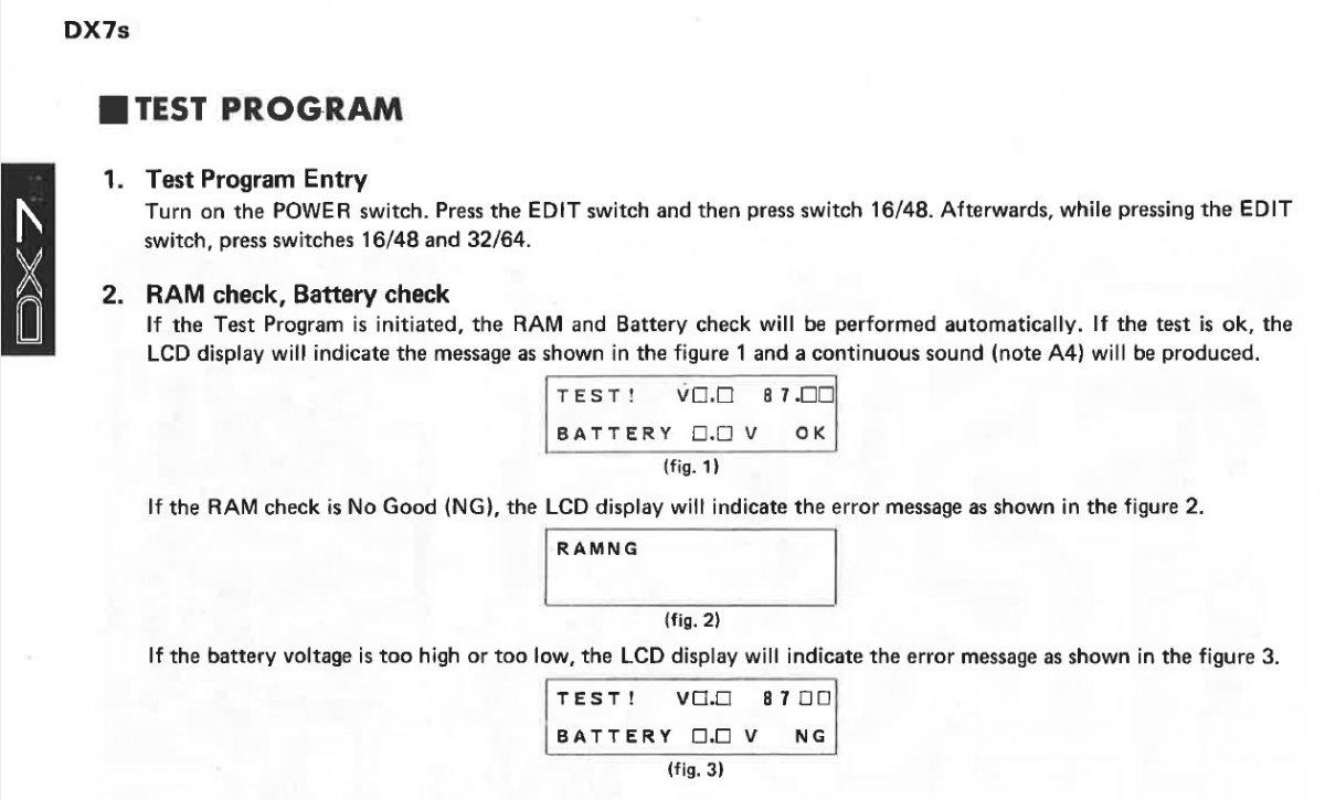 How to reset a Yamaha DX7s - YamahaMusicians com