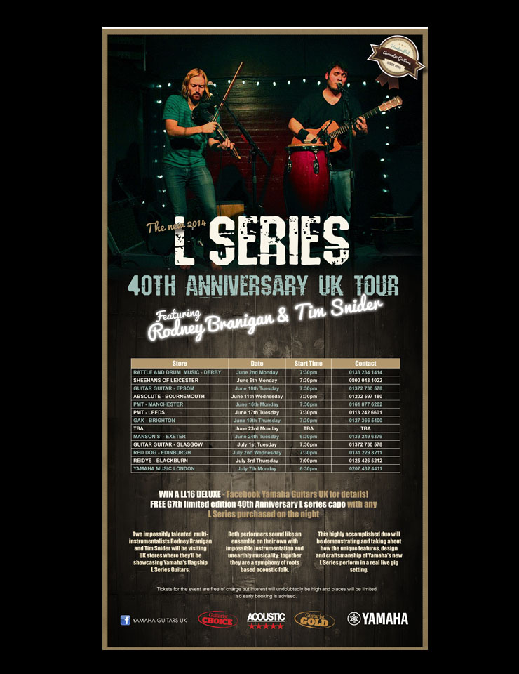 A&L Series 40th Anniversary Tour - Dates Announced!