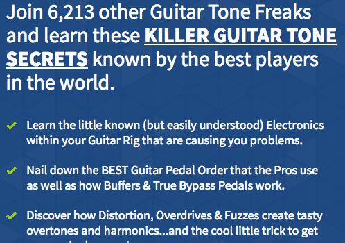 Free Guitar Tone Secrets Video Course