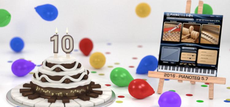 Pianoteq Celebrates 10 Years
