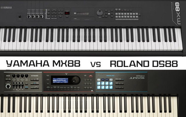 Yamaha mx88 vs roland juno ds88 which comes out on top for Roland vs yamaha piano