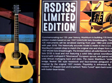 Washburn Commemorates 135 Years As One Of Americas Oldest Guitar Brands With Revival Series RSD135-D