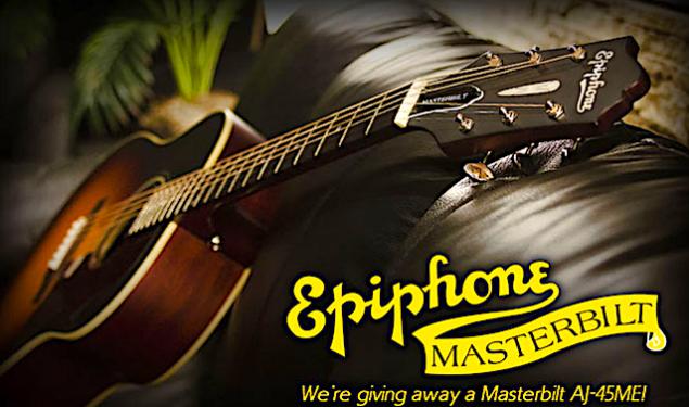 Win a Epiphone Masterbilt® 2015 AJ-45ME Acoustic/Electric Guitar