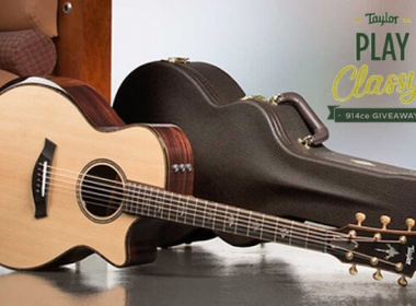 Win a Taylor 914ce acoustic guitar with V-Class™ bracing!