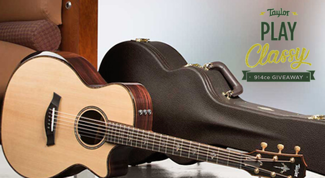 Win a Taylor 914ce acoustic guitar with V-Class™ bracing