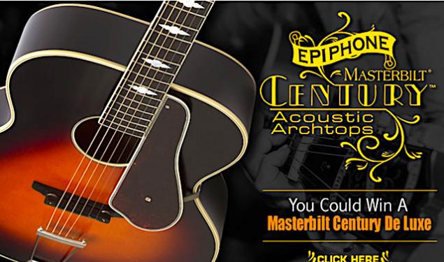 Win a Masterbilt Century De Luxe by Epiphone