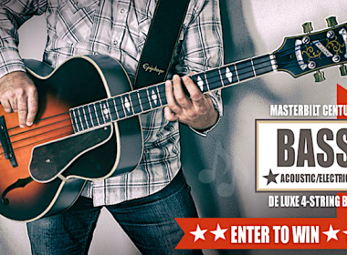 Your Chance To Win The Fantastic Epiphone Masterbilt Century De Luxe Bass Plus Hard Case!
