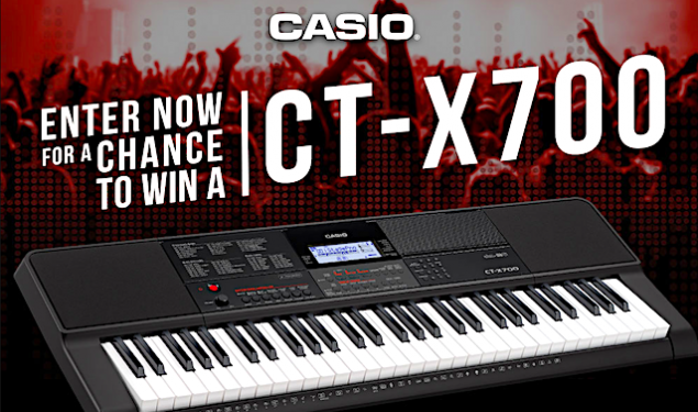 Win A Casio CT-X700 Keyboard!