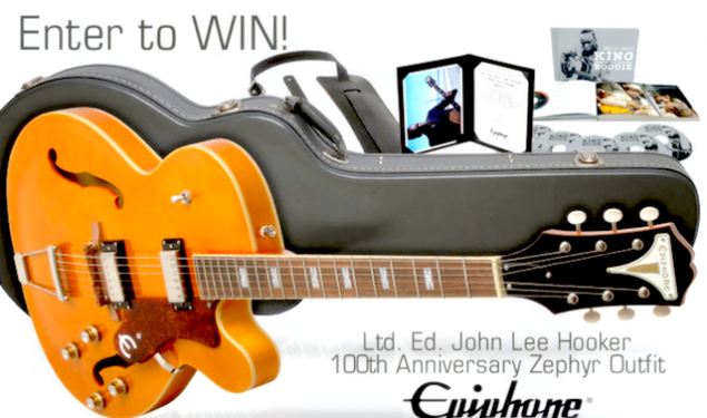 Win a new Ltd. Ed. John Lee Hooker 100th Anniversary Zephyr Outfit