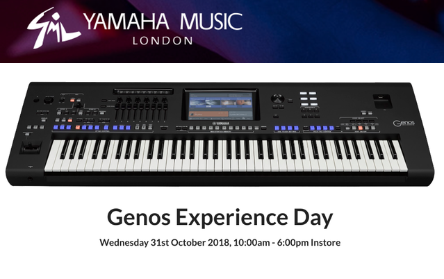 yamaha genos experience day hosted by yamaha music london. Black Bedroom Furniture Sets. Home Design Ideas