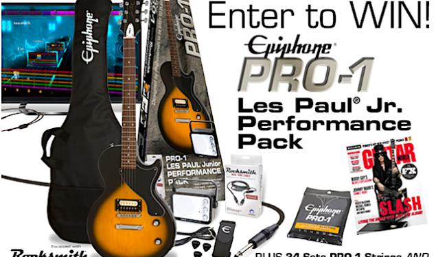 Win a new Epiphone PRO-1 Les Paul Jr. Performance Pack