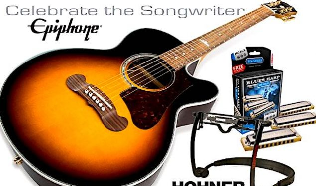 Win a new Epiphone EJ-200 Coupe Acoustic Guitar!