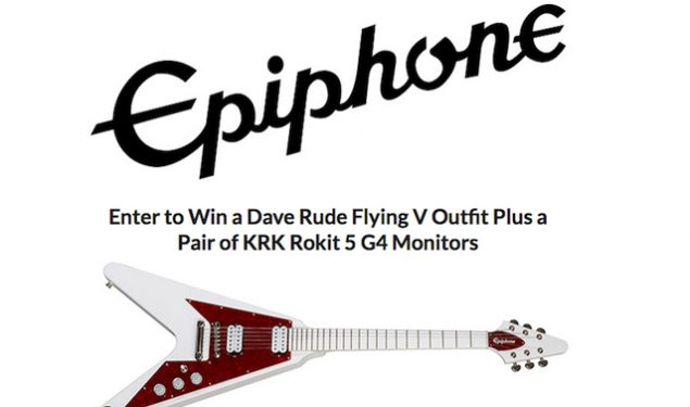 Win a Dave Rude Epiphone Flying V Outfit Plus a Pair of KRK Rokit 5 G4 Monitors