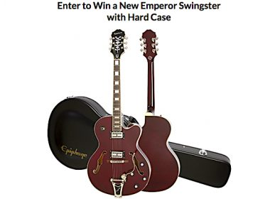 Win a New Epiphone Emperor Swingster with Hard Case