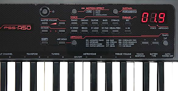 Yamaha PSS-A50 Control Panel