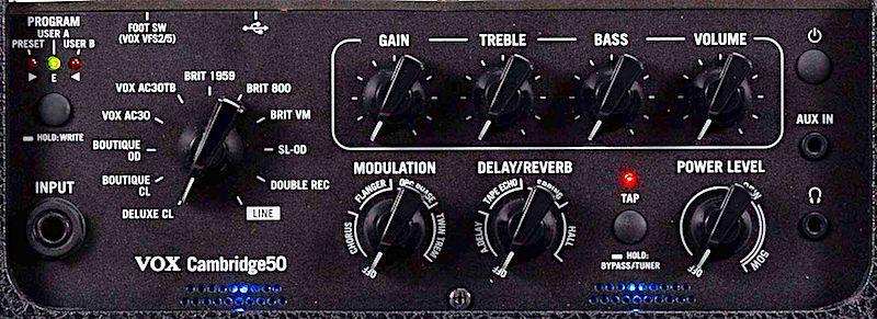 Vox Cambridge50 Controls