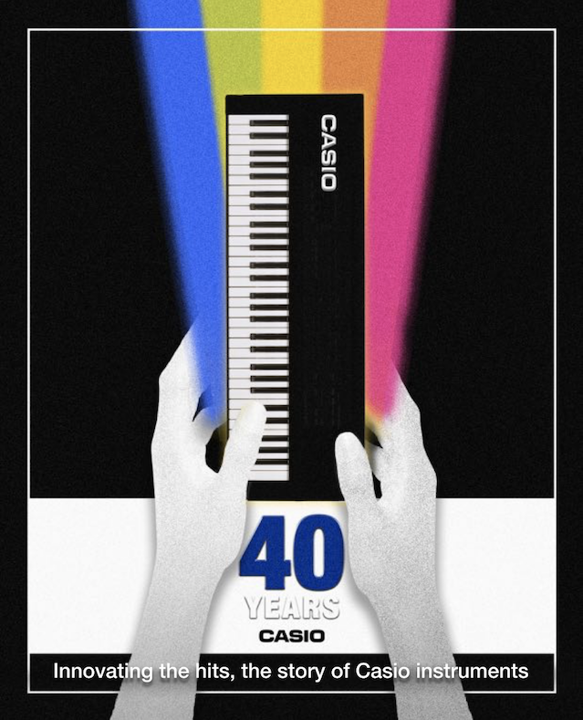 Casio 40th Anniversary Fanzine Front Cover